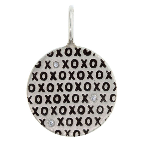 XOXO Diamond Round Charm