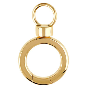 Heather B. Moore - 14k yellow gold round Swivel Hinge
