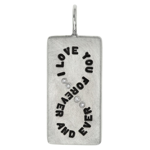 sterling silver ID Tag charm