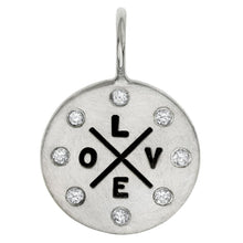 Load image into Gallery viewer, Heather B. Moore - Sterling Silver Love Graffiti Round Charm