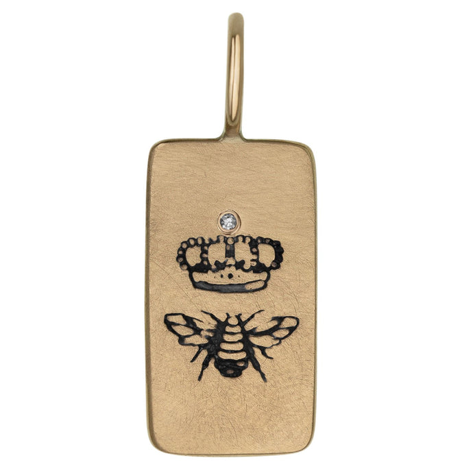 Heather B. Moore - 14k Yellow Gold Queen Bee ID Tag