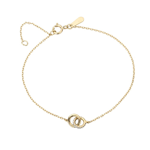 Adina Reyter 14k yellow gold Pave Interlocking Loop Bracelet