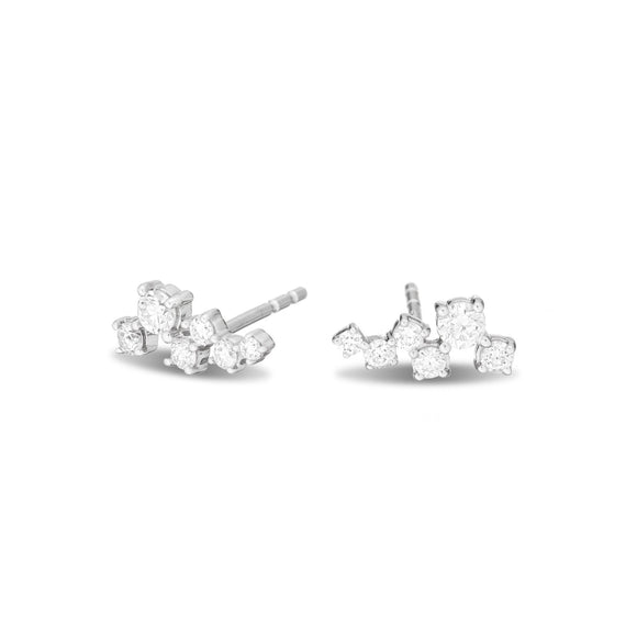 Scattered Diamond Posts- Sterling Silver