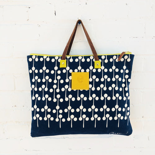 Erin Flett - Navy Lollipop Folder Bag