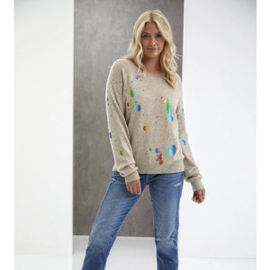 Rainbow Foil Cashmere Sweater