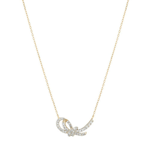gold forget-me-knot necklace
