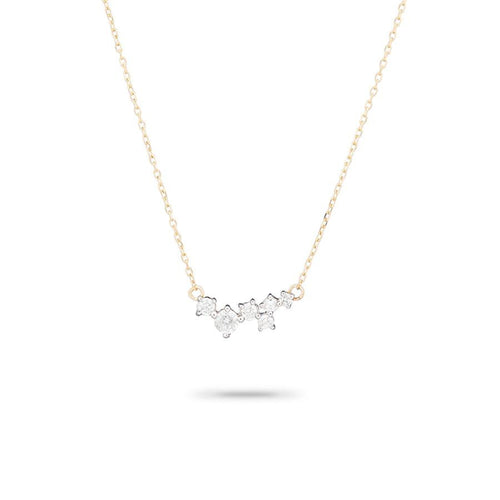 Adina Reyter 14k Yellow Gold Scattered Diamond Necklace