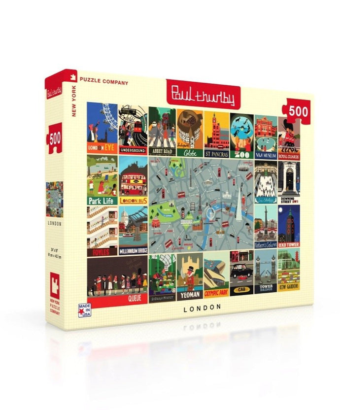 Paul Thurlby London Collage 500 pc puzzle