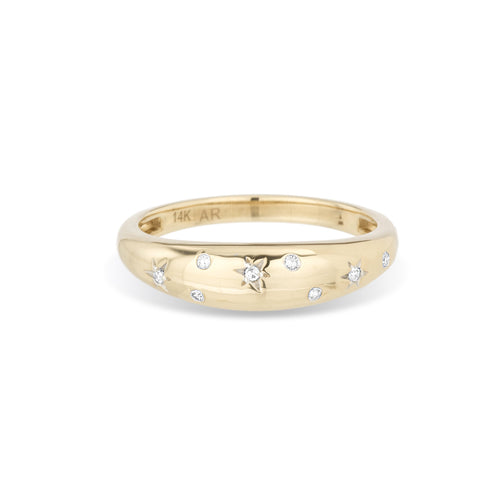 Adina Reyter Celestial Diamonds Small Half Dome Ring