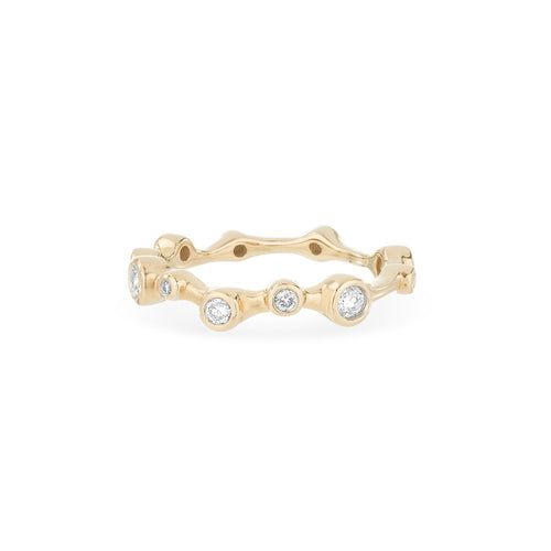 Diamond Eternity Ring in 14 karat yellow gold