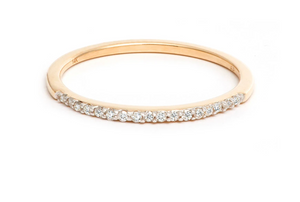 Pave Band Ring in Gold