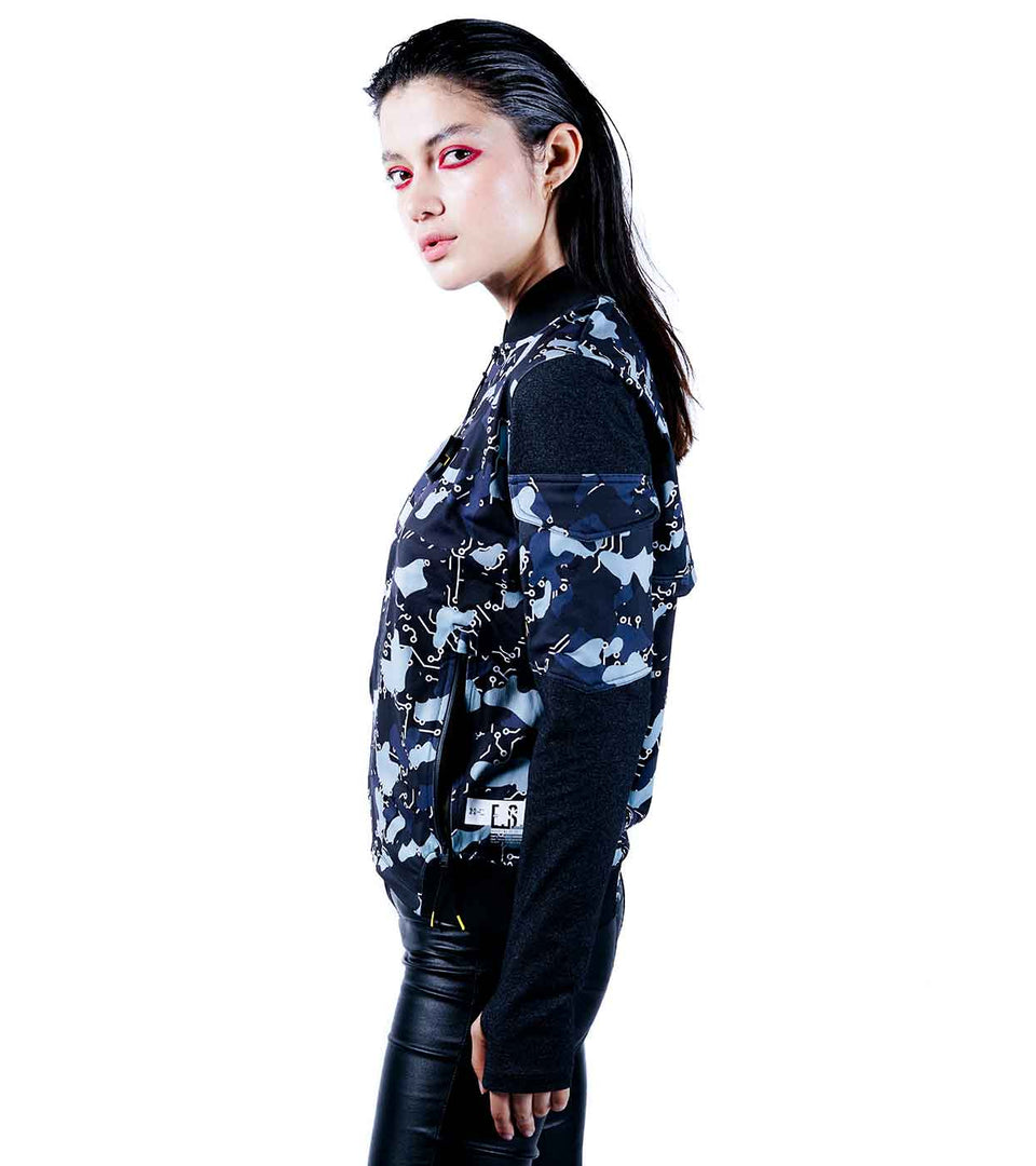camo bomber jacket womens