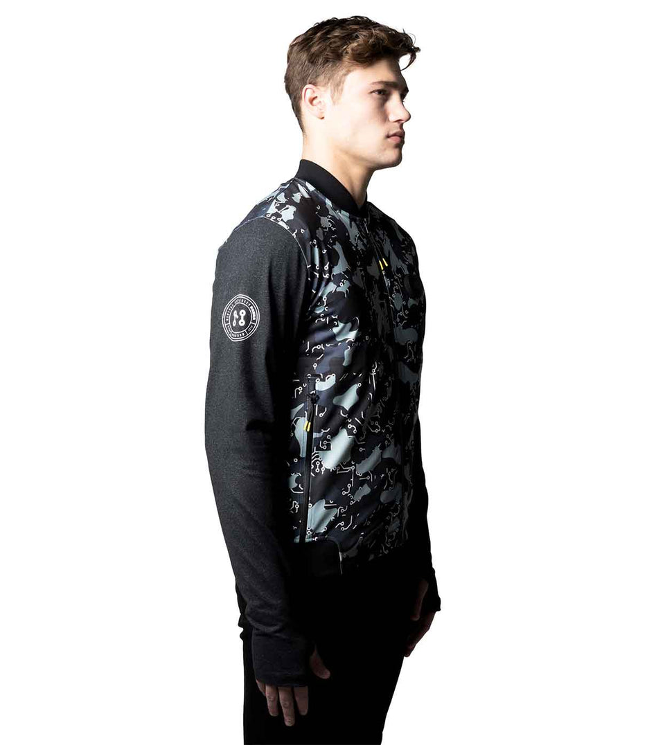 camo bomber jacket mens