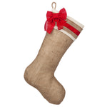 Burlap stocking with Red Accents- Style B