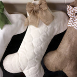 Quilted Dog Bone Christmas Stocking
