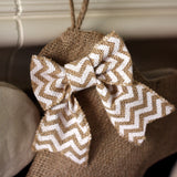Natural Burlap Dog Bone Stocking