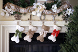 Mini-Bone Woven Stocking with Optional Bow - Pet Stocking