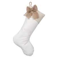 Christmas Stocking with Burlap Accents - Madison D
