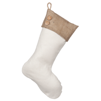 Christmas Stocking with Burlap Accents - Madison E