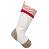 Christmas Stockings with Red Ticking Accents
