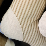 Taupe Ticking Stocking - D