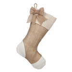 Taupe Ticking Stocking - E