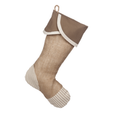 Taupe Ticking Stocking - G