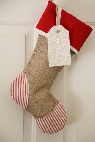 Personalized Embroidered Stocking Tag