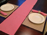 Burlap & Gingham Table Tunner- 6 foot x 12 inches