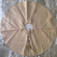 "56"" Inch Burlap Christmas Tree Skirt"