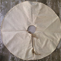"48"" Inch Ivory Burlap Christmas Tree Skirt"