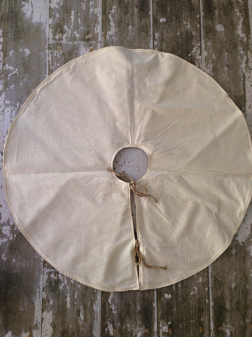 Burlap Christmas Tree Skirt