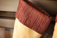 Stocking with Burgundy Taffeta Cuff