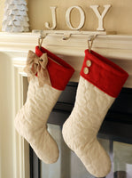 Quilted Stockings Set with Red Cuff