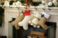 Pet Burlap Christmas Stockings