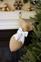 Burlap Cat Christmas Stocking