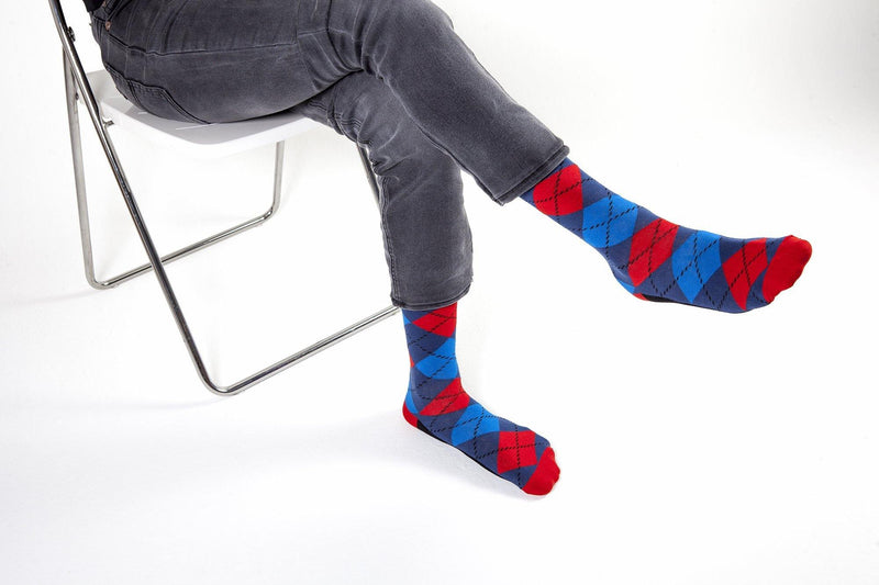 Men's Funky Argyle Socks (5-Pack) - Castlebeard