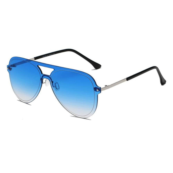 BELFAST | S2065 - Unisex Flat Single Lens Aviator Fashion Sunglasses