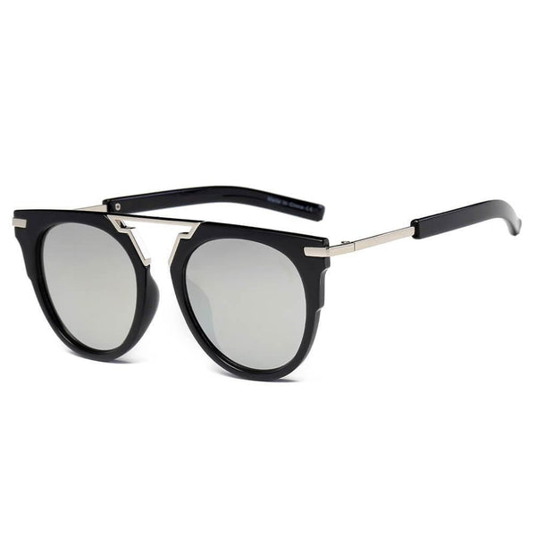 HANOVER | S2004 - Unisex Fashion Brow-Bar Round Sunglasses