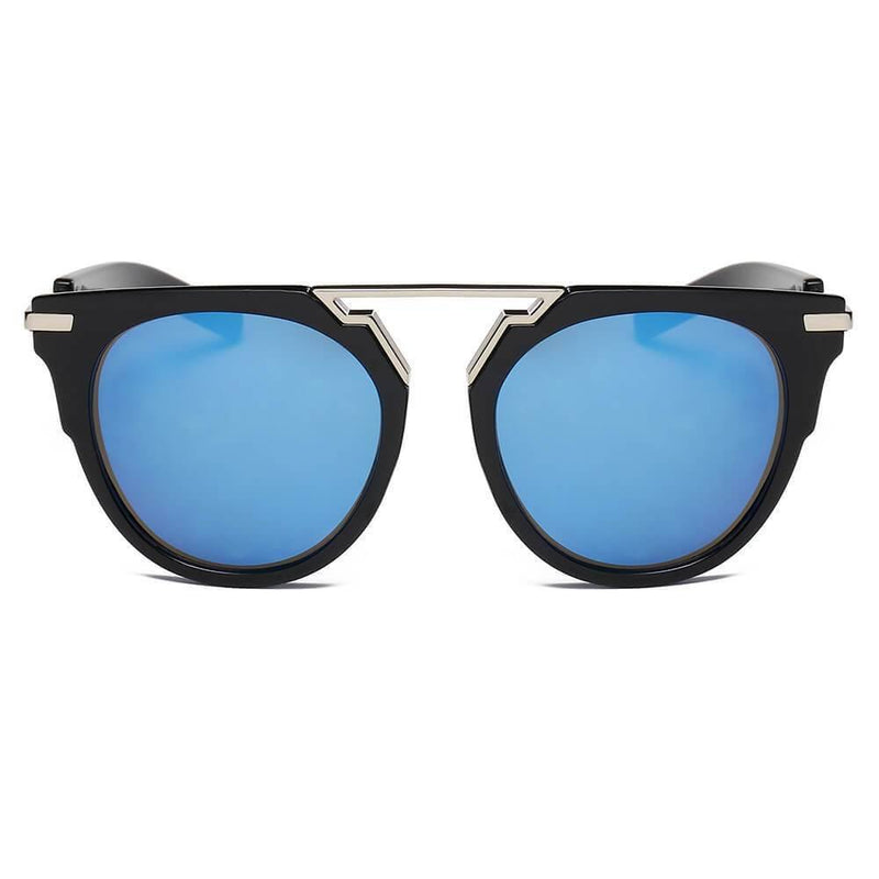 HANOVER | S2004 - Unisex Fashion Brow-Bar Round Sunglasses - Castlebeard