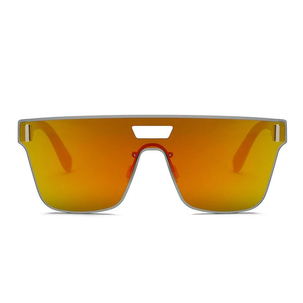 DEVON | S2075 - Unisex Retro Square Mirrored Sunglasses