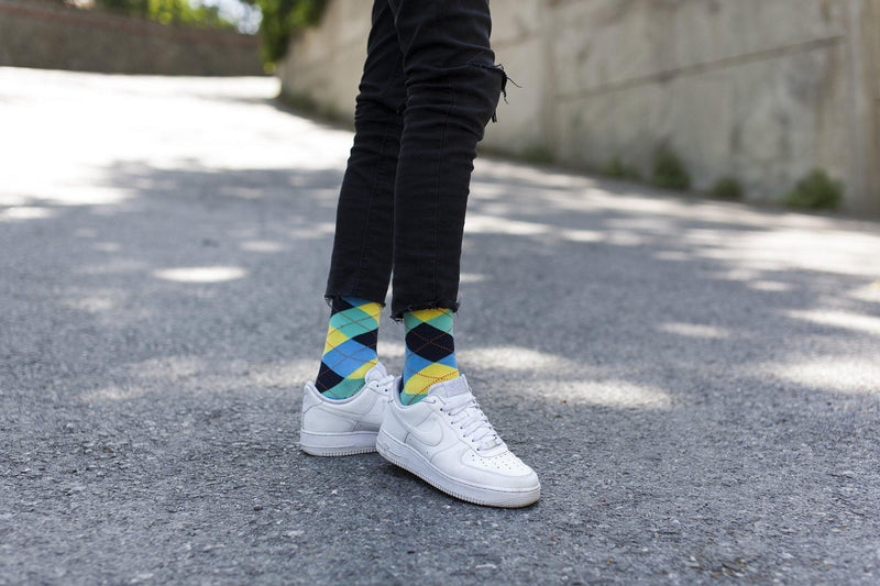 Men's Pastel Argyle Socks (5-Pack)