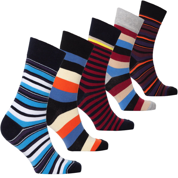 Men's Traditional Stripes Socks (5-Pack)