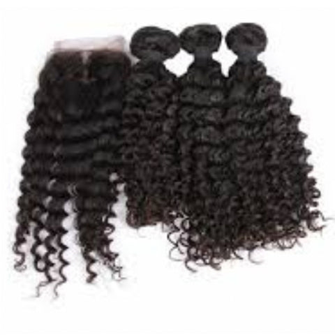 Premium 3 Bundles Deal with Closure - Bidiana Hair Extensions