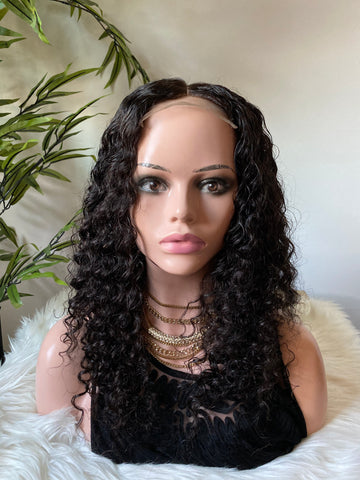 $270- $570 Custom Wig Deep Curls Closure - Bidiana Hair Extensions