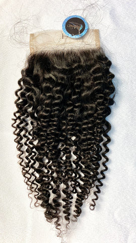 Island  Queen kinky  curls closure