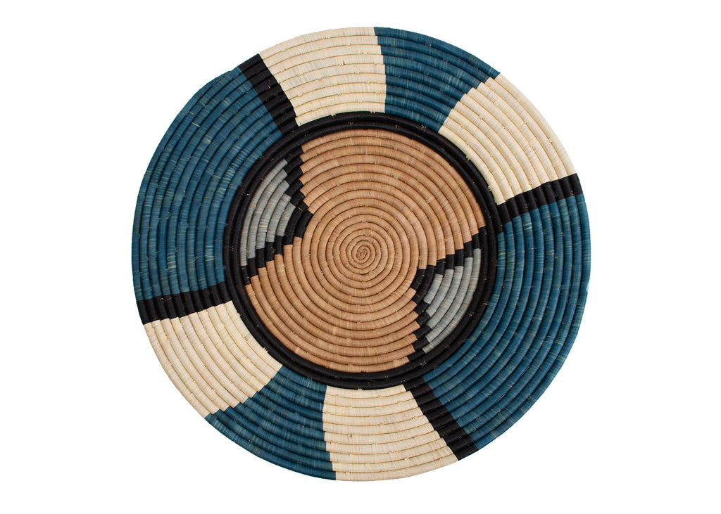 Hand woven large African plate