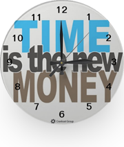 """Time is the new Money"" clock"