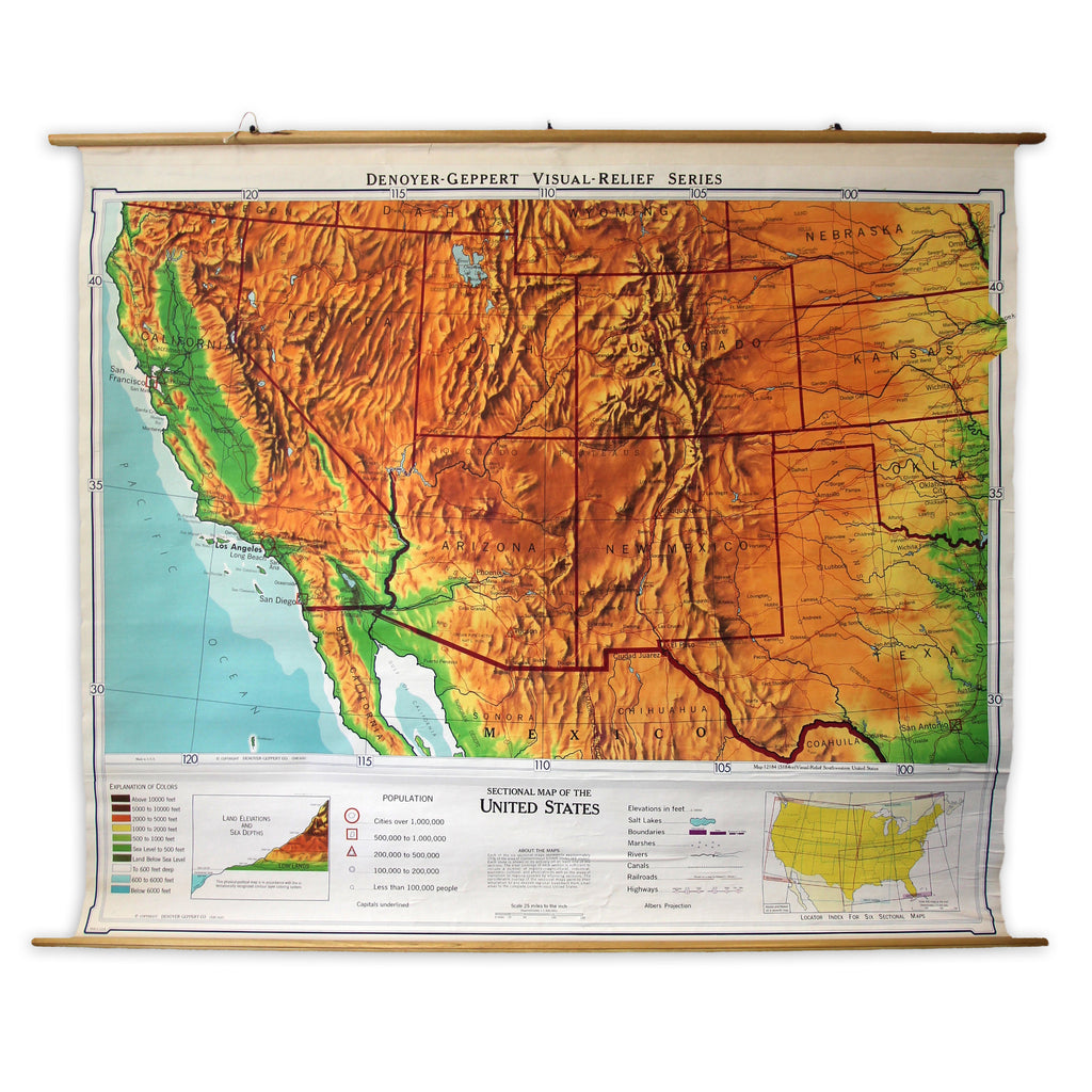 Sectional Map of the US: California