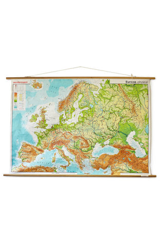 Map of Europe by Westermann